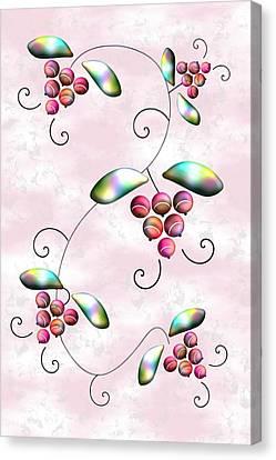 Rainbow Berries Canvas Print by Anastasiya Malakhova