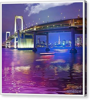 Rainbow Bridge At Night Canvas Print by Stefano Senise