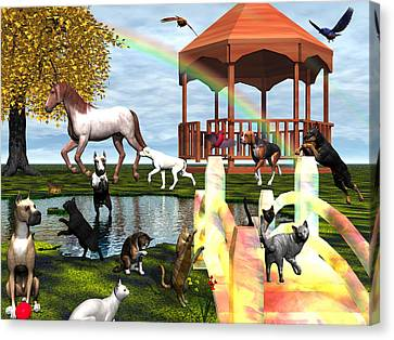 Rainbow Bridge Canvas Print by Michele Wilson