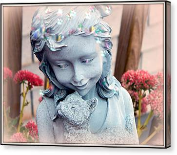 Rememberance Canvas Print - Rainbow Bridge Pet Angel  by Kathy Barney