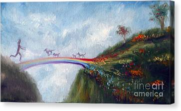 Rainbow Bridge Canvas Print by Stella Violano