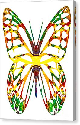 Rainbow Butterfly Abstract Nature Artwork Canvas Print by Omaste Witkowski