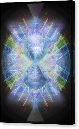Rainbow Chalice Cell Isphere Matrix Canvas Print by Christopher Pringer