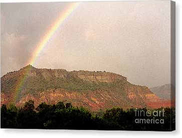 Clearing Canvas Print - Rainbow Clearing Storm by Thomas R Fletcher