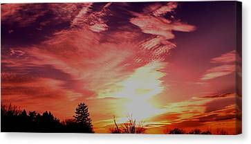 Canvas Print featuring the photograph Rainbow Clouds by Candice Trimble
