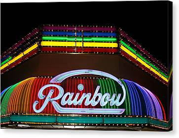 Rainbow Club Neon Canvas Print