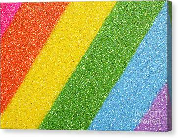 Rainbow Colors On Top Of A Box Canvas Print