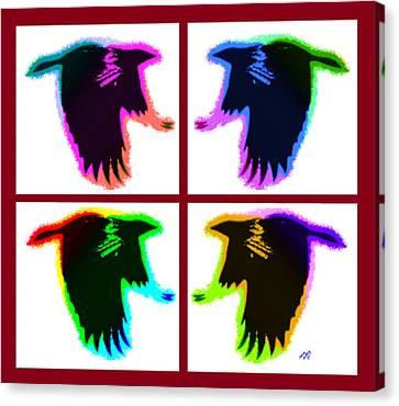 Rainbow Eagles Canvas Print by Bruce Nutting