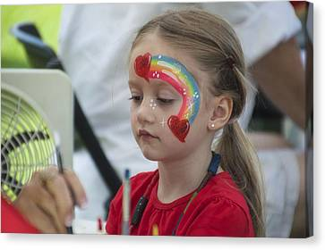 Rainbow Face Painting Canvas Print by Floyd Snyder