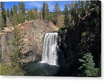 Canon 7d Canvas Print - Rainbow Falls At Mammoth Lakes by Donna Kennedy