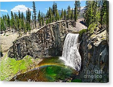 Natural Pool Canvas Print - Rainbow Falls In Mammoth Lakes California by Jamie Pham