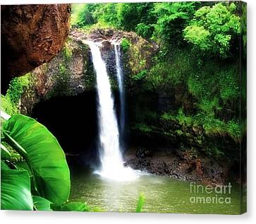 Canvas Print featuring the photograph Rainbow Falls by Kristine Merc