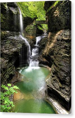 Hiking Canvas Print - Rainbow Falls by Lori Deiter