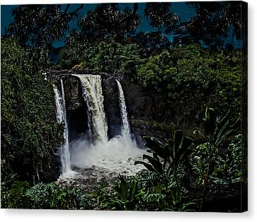 Canvas Print featuring the photograph Rainbow Falls by Randy Sylvia