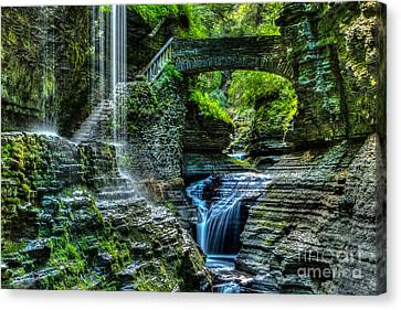 Rainbow Falls Watkins Glen Canvas Print
