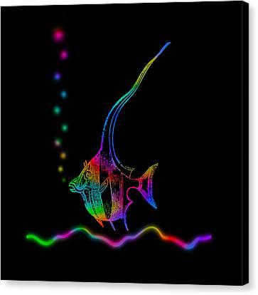 Rainbow Fish - Chaetodon Besantii Canvas Print by David Blank