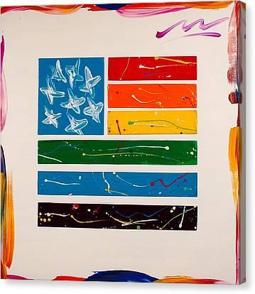 Rainbow Flag Canvas Print by Mac Worthington