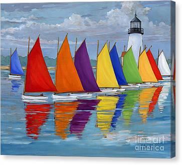 Rainbow Fleet Canvas Print by Paul Brent
