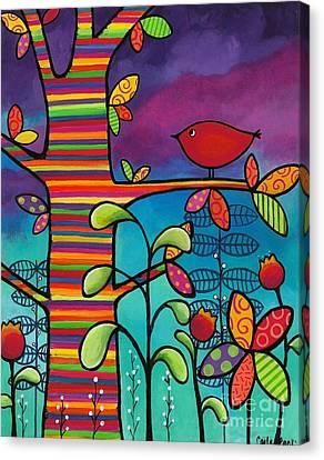 Rainbow Forest Canvas Print by Carla Bank