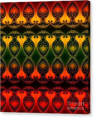 Canvas Print featuring the digital art Rainbow Fractal Pattern by Clayton Bruster