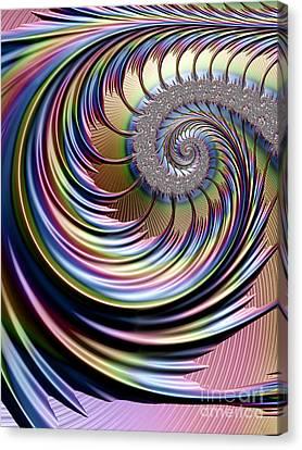 Celestial Canvas Print - Rainbow Fronds by John Edwards