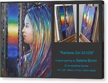 Rainbow Girl 241008 Canvas Print by Selena Boron