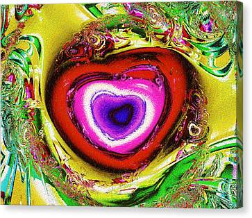 Rainbow Heart Canvas Print by Anastasiya Malakhova