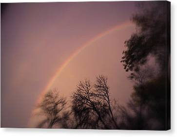 Canvas Print featuring the photograph Rainbow by Heather Green
