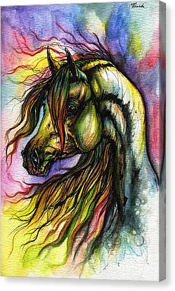 Rainbow Horse 2 Canvas Print by Angel  Tarantella