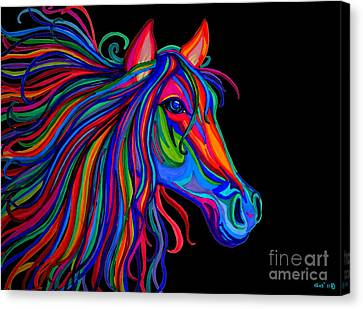 Rainbow Horse Head Canvas Print