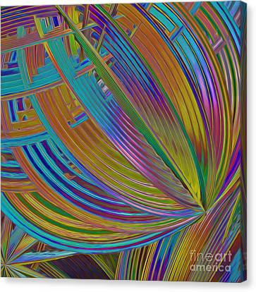 Rainbow Hues Abstract Canvas Print by Deborah Benoit
