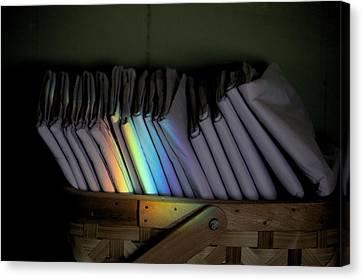 Rainbow In A Basket Canvas Print