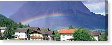 Rainbow Innsbruck Tirol Austria Canvas Print by Panoramic Images