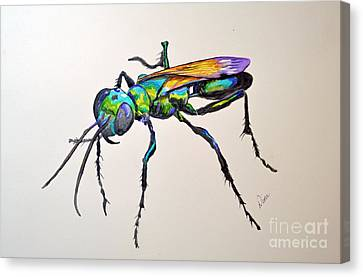 Rainbow Insect Canvas Print by Dion Dior