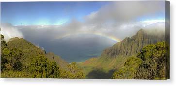 Rainbow Kalalau Valley Canvas Print by Norman Blume