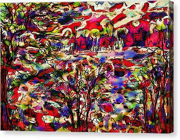 Rainbow Landscape Canvas Print by Natalie Holland