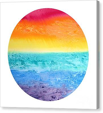 Canvas Print featuring the painting Rainbow Landscape  by Susan  Dimitrakopoulos