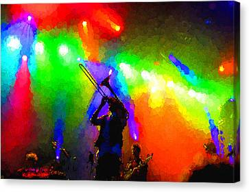Rainbow Music - Trombone Solo In The Limelight Canvas Print