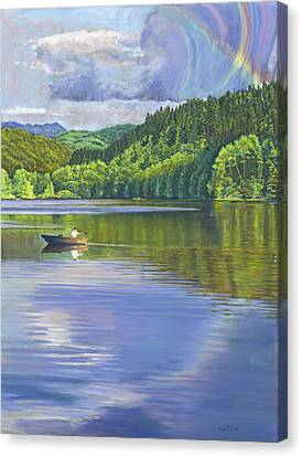 Lake Padden - View From The Alex Johnston Memorial Bench Canvas Print