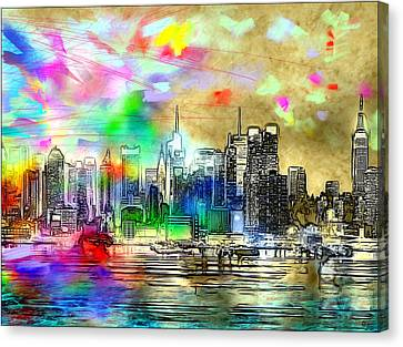 Rainbow Nyc Skyline Canvas Print