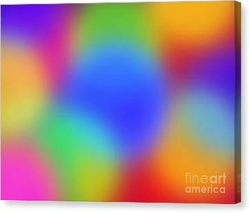 Rainbow Of Colors Canvas Print by Gayle Price Thomas