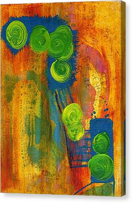 Canvas Print featuring the painting Rainbow Of The Spirit by Lesley Fletcher