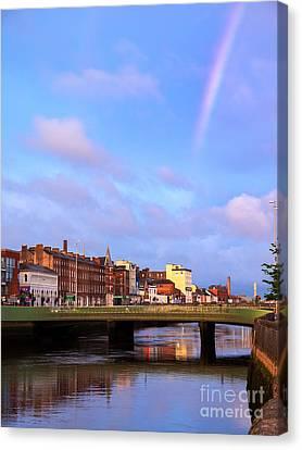 Rainbow Over Cork Canvas Print