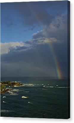 Rainbow Over The Atlantic Canvas Print