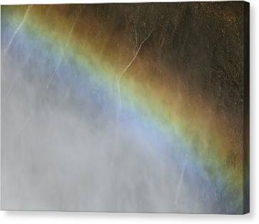 Rainbow Over The Falls Canvas Print by Laurel Powell