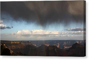 Rainbow Over The Grand Canyon Canvas Print