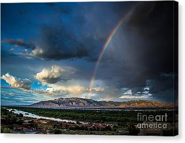 Rainbow Over The Sandias Canvas Print