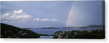 Pillsbury Canvas Print - Rainbow Over The Sea, Pillsbury Sound by Panoramic Images