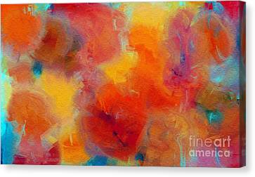 Rainbow Passion - Abstract - Digital Painting Canvas Print by Andee Design