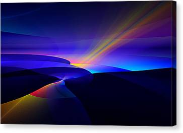 Canvas Print featuring the digital art Rainbow Pathway by GJ Blackman